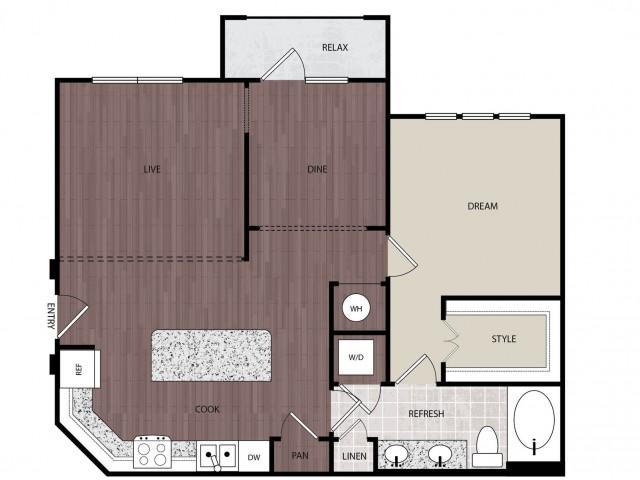 921 sq. ft. A4 floor plan