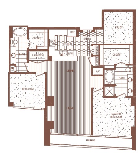 1,536 sq. ft. B3 floor plan