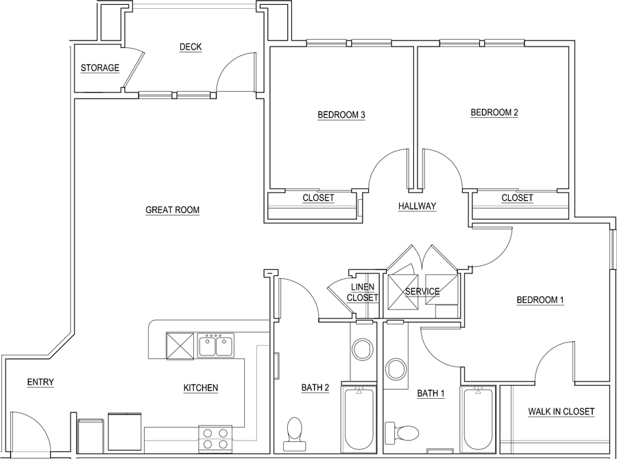 1,188 sq. ft. Violet/60% floor plan