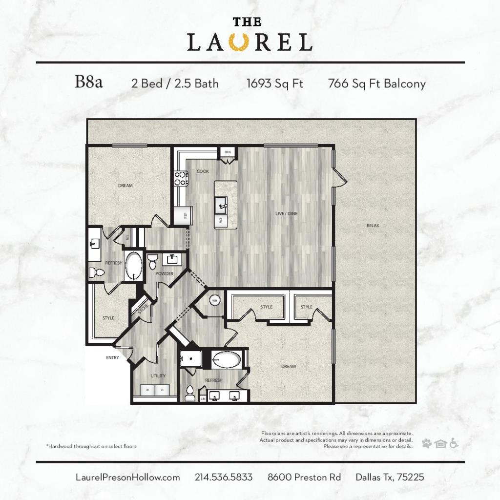 1,693 sq. ft. B8A floor plan