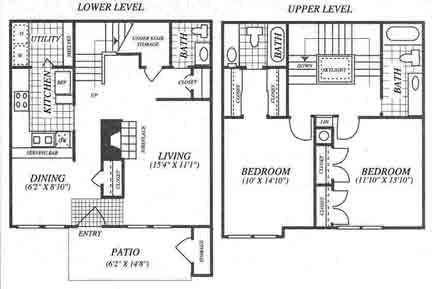 927 sq. ft. B1C floor plan