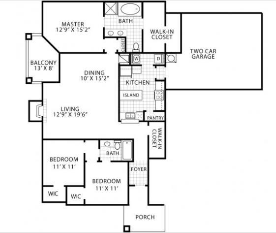 1,586 sq. ft. Hamberly floor plan