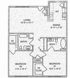 1,085 sq. ft. floor plan