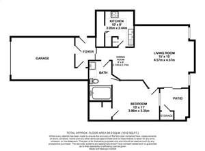 711 sq. ft. A1-1stGAR* floor plan