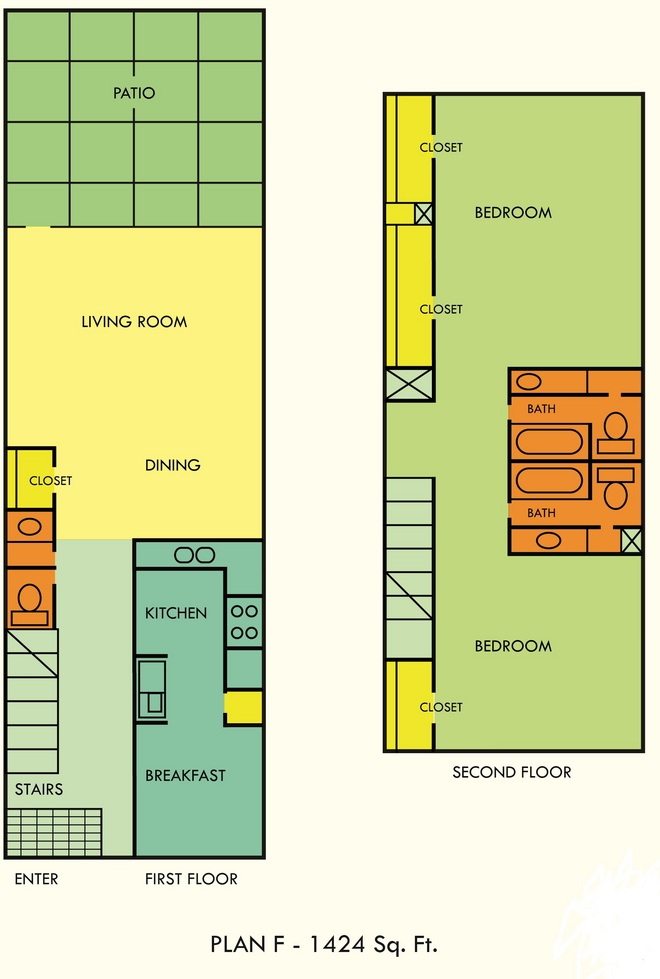 1,424 sq. ft. floor plan