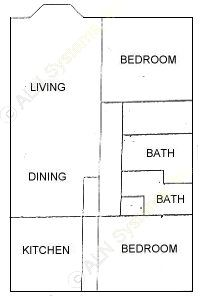 1,285 sq. ft. floor plan