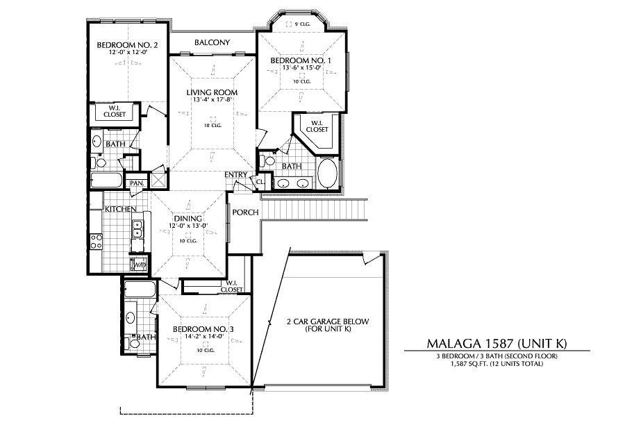 1,587 sq. ft. K floor plan