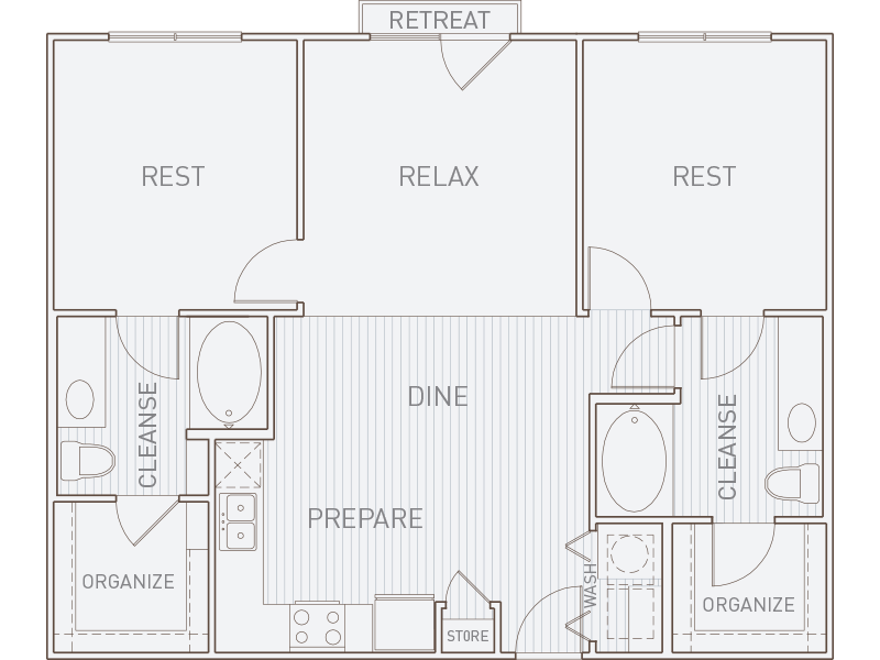 1,014 sq. ft. B1-J floor plan
