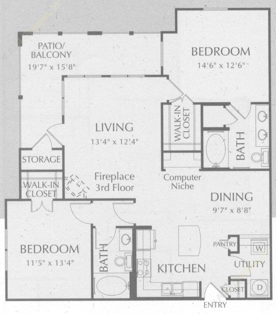 1,172 sq. ft. Bandera floor plan