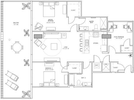 1,951 sq. ft. E floor plan
