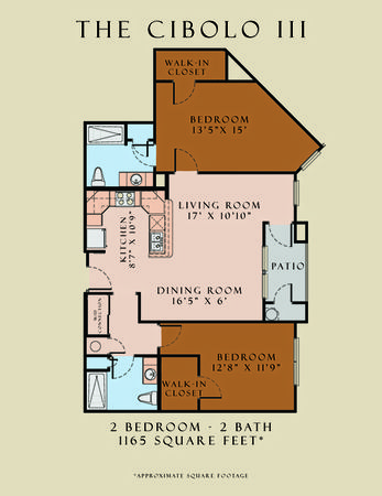1,165 sq. ft. Cibolo III/60 floor plan
