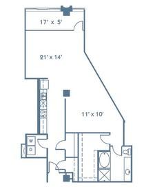1,119 sq. ft. A11 floor plan
