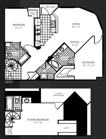 1,525 sq. ft. C3 floor plan