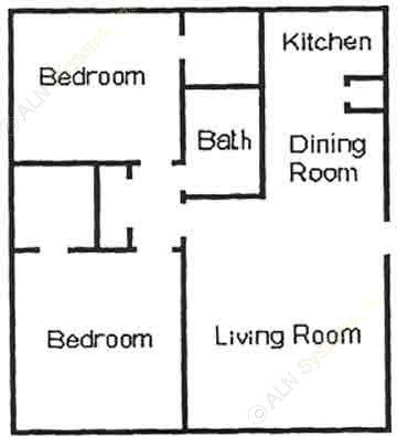 808 sq. ft. B1 floor plan