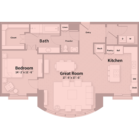 1,236 sq. ft. B5 floor plan