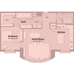 1,236 sq. ft. B5 floor plan