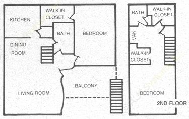 1,060 sq. ft. 60 floor plan