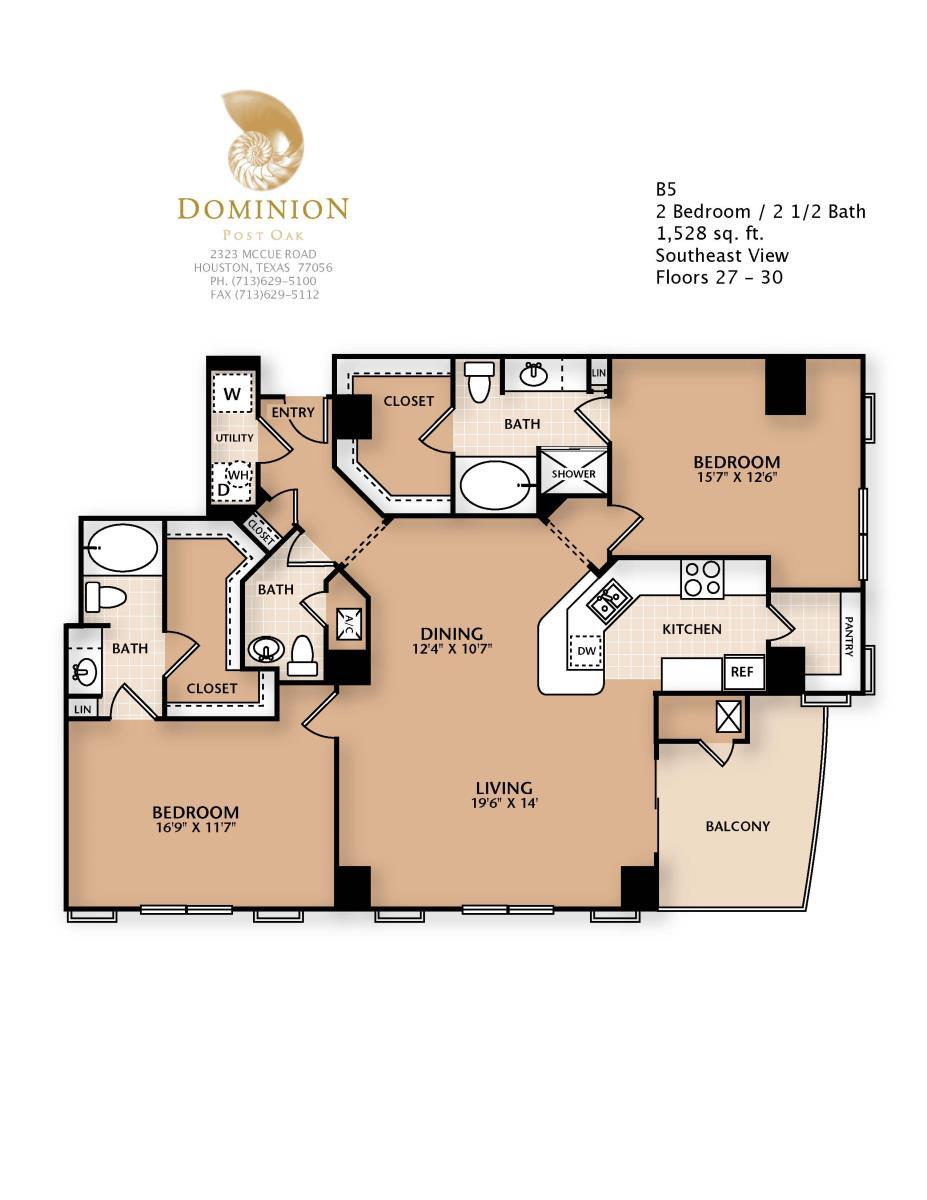 1,528 sq. ft. B5 floor plan