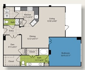 1,164 sq. ft. A10 floor plan