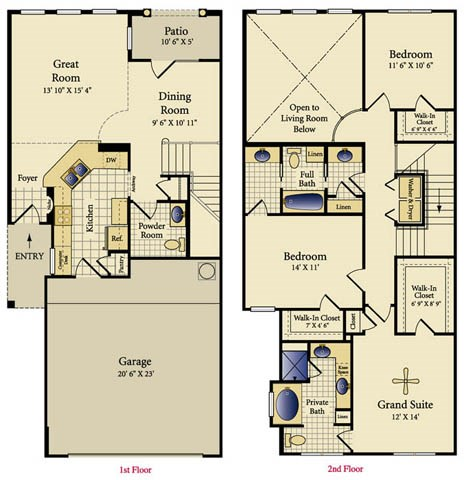 1,691 sq. ft. Valencia floor plan