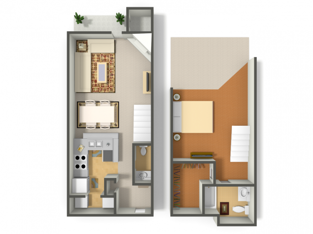 950 sq. ft. Blue Jay floor plan