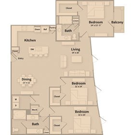 1,728 sq. ft. G1 floor plan