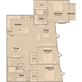 1,728 sq. ft. G1 floor plan