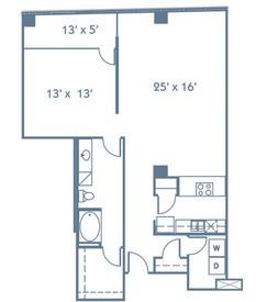 1,103 sq. ft. A10 floor plan