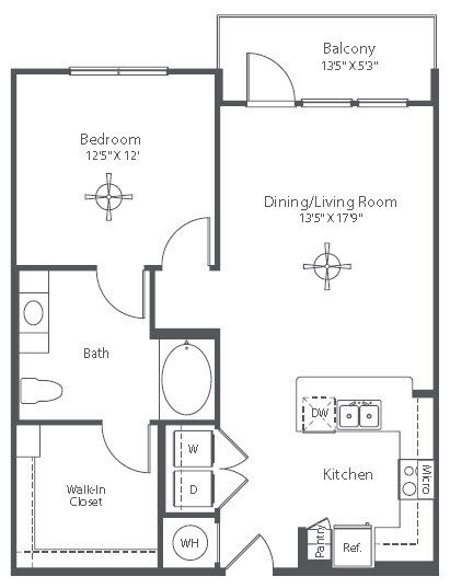 819 sq. ft. A10 floor plan