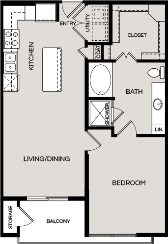 776 sq. ft. A1.3 floor plan