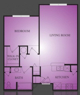 719 sq. ft. Dargan floor plan
