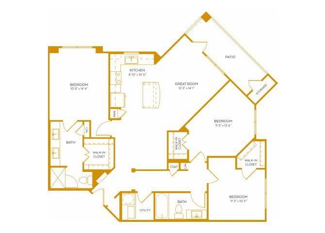 1,282 sq. ft. C1G floor plan