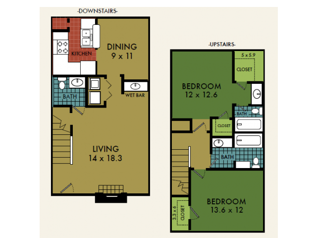 1,286 sq. ft. floor plan