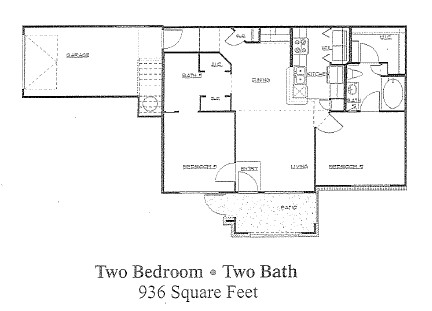 936 sq. ft. to 941 sq. ft. 60 floor plan