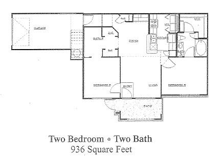936 sq. ft. to 941 sq. ft. 60% floor plan