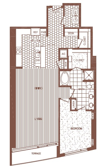 1,343 sq. ft. A7 floor plan