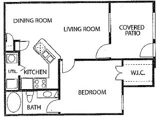 648 sq. ft. 60% floor plan