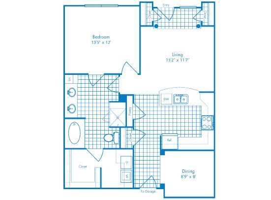935 sq. ft. Cozumel floor plan