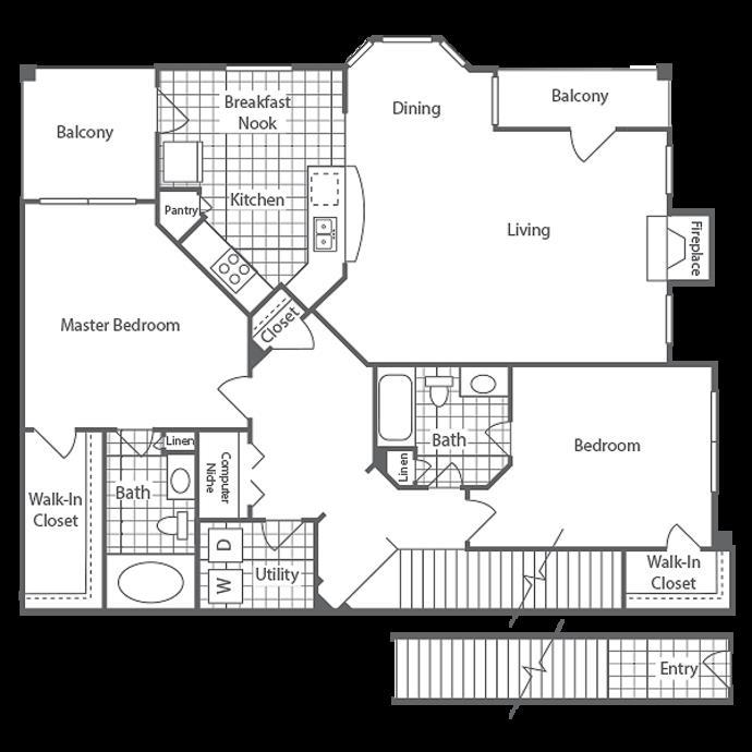 1,369 sq. ft. McAllister floor plan