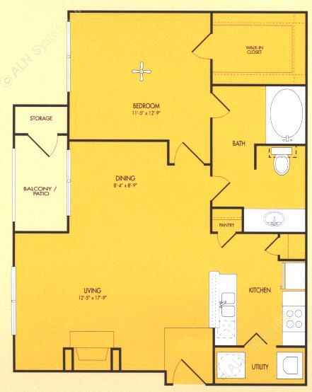 804 sq. ft. Athens floor plan