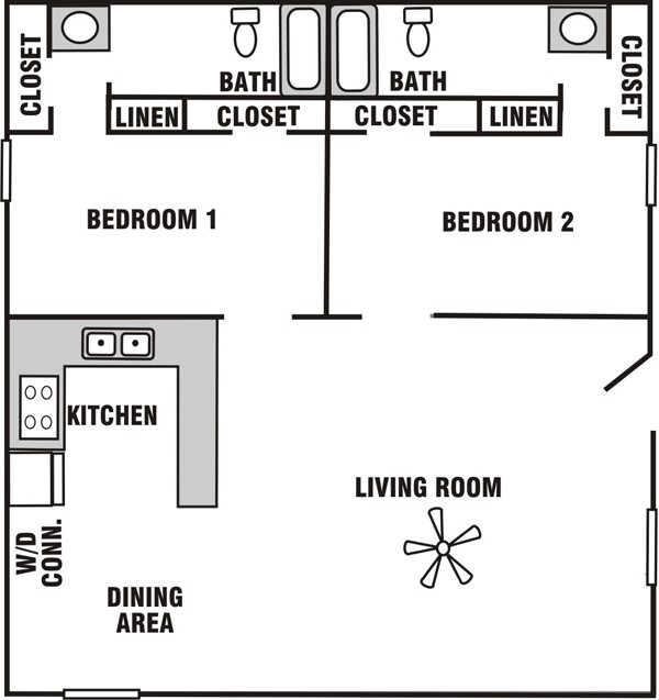 920 sq. ft. B-4 floor plan