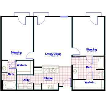1,189 sq. ft. floor plan