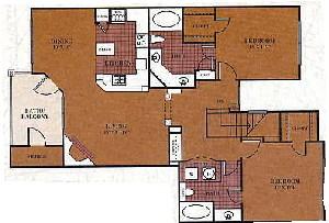 1,174 sq. ft. B4/Milam floor plan