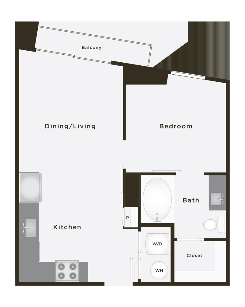 551 sq. ft. Grand Pro PH floor plan