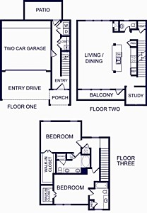 1,829 sq. ft. GIBRALTAR ONE floor plan