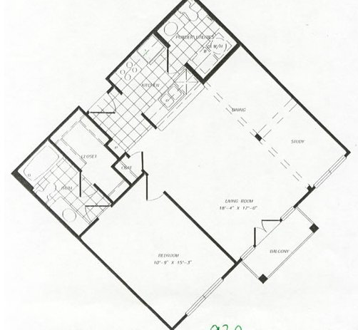 824 sq. ft. floor plan