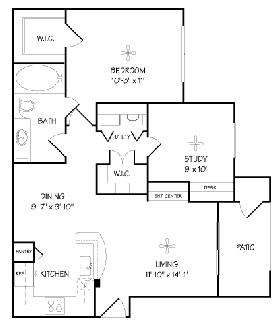 850 sq. ft. A2/Cordova floor plan