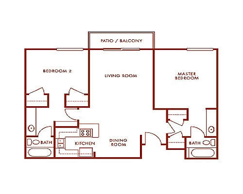 1,102 sq. ft. floor plan
