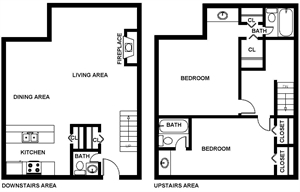 1,325 sq. ft. Bolton floor plan