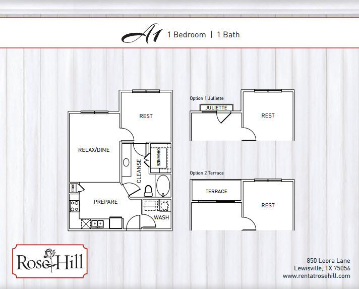 661 sq. ft. to 713 sq. ft. A1/A1P/A1T/A1TP floor plan